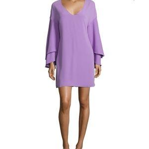 Shelli Segal lavender bell sleeve shift dress